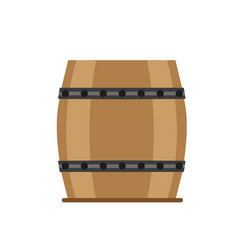barrel wooden wine beer vintage isolated wood vector image