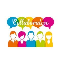 Collaborative people design vector