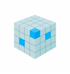 Cube database icon cartoon style vector