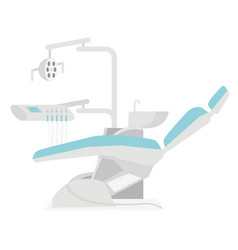 dental chair cartoon vector image vector image