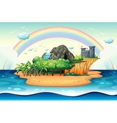 Desert island vector image