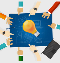 developing idea together make plan teamwork in vector image vector image
