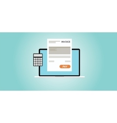 Digital invoice vector