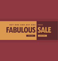 Fabulous sale banner poster template for promotion vector