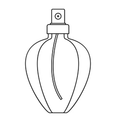Female perfume flacon icon outline style vector