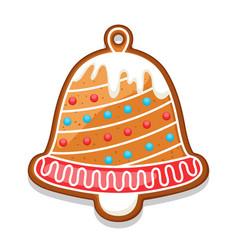 Gingerbread cookies bell of merry vector