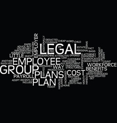 Group legal plans benefits for employer and vector