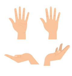 Hands human symbols icon vector