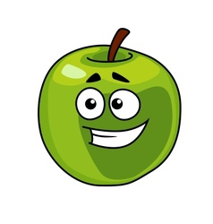 Happy smiling healthy green apple vector