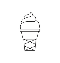 ice cream thin line icon vector image vector image