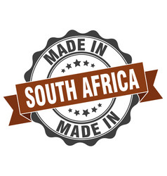 Made in south africa round seal vector
