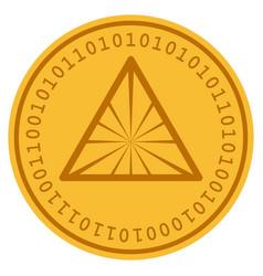 Pyramid digital coin vector