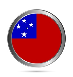 Samoa flag button vector