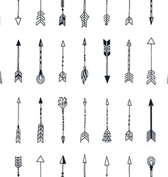 Seamless pattern with hand drawn arrows vector