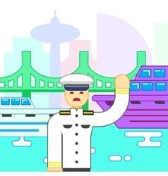 Ship captain icon vector