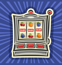 slot machine vector image vector image