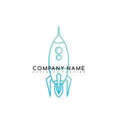 Space rocket shuttle brand logo template logotype vector