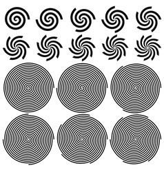 Spirals pattern set vector