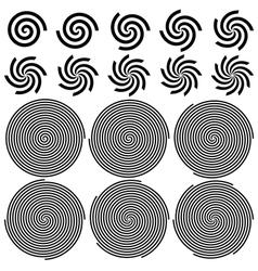 Spirals Pattern Set vector image vector image