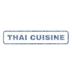 Thai cuisine textile stamp vector