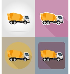 transport flat icons 24 vector image vector image