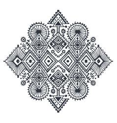 tribal art boho hand drawn geometric pattern vector image vector image