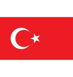 Turkey flag image vector image vector image