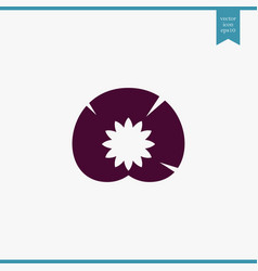 water lily icon simple vector image