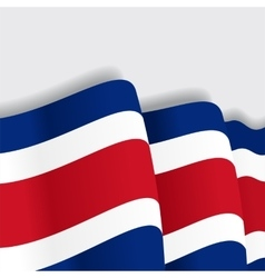 Costa rican waving flag vector