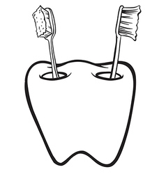 Toothbrush holder vector