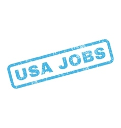 Usa jobs rubber stamp vector
