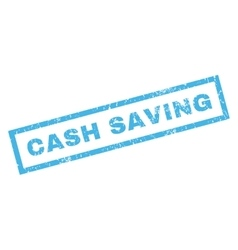 Cash saving rubber stamp vector