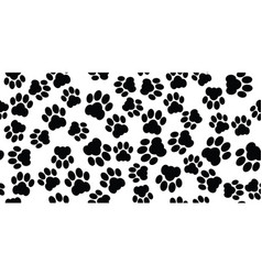 Cat paw seamless vector