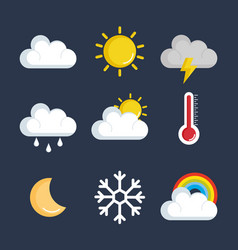 set of weather status icons vector image
