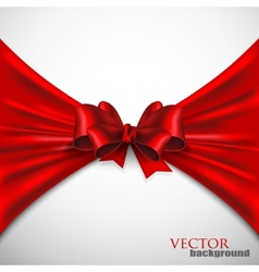 Background with red bow vector