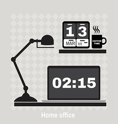 Modern office workspace flat minimalistic style vector