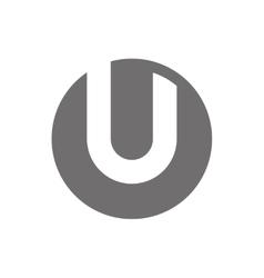 Letter U Logo Concept Icon vector image