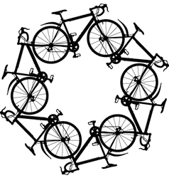 cycling around vector image