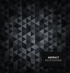 Abstract dark triangular background vector