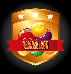 Casino games design vector