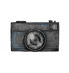 Hand drawn camera vector
