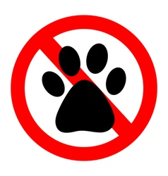 No Dog paw sign icon vector image