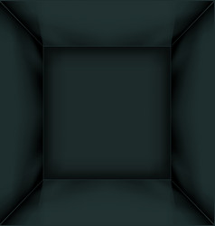 Black simple empty room interior vector image
