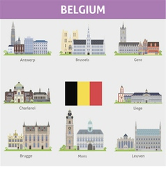 Begium Symbols of cities vector image vector image