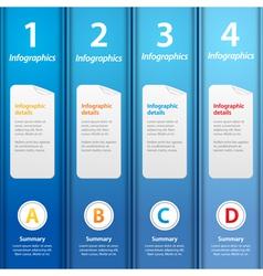 Blue folders infographic vector