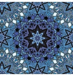 Blue seamless design in oriental style stellar vector