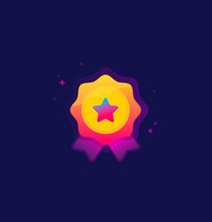 color award icon vector image vector image
