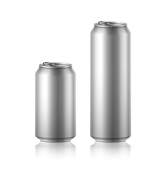 Drink foods cola beer aluminum vector