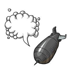 falling bomb-100 vector image