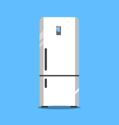 flat refrigerator icon vector image
